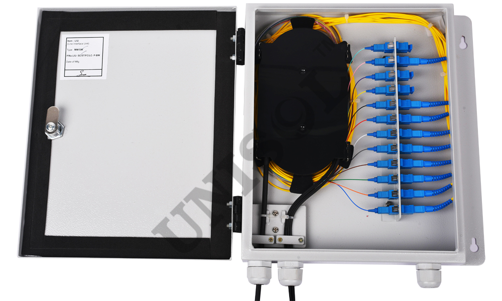 Wall mount fiber patch panel